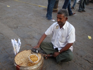 Selling nuts in Mumbai