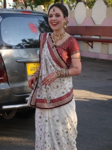 The bride at our first Indian wedding in December