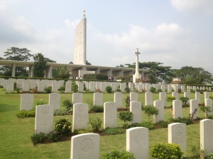 The war memorial at Woodlands (also where I saw the Royals on their Singapore visit)